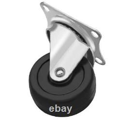 120 Pack 2 Swivel Caster Wheels Rubber Base With Top Plate & Bearing Heavy Duty