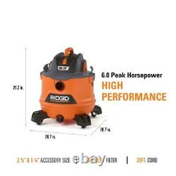 14 gal. 6.0-peak hp nxt wet/dry shop vacuum with fine dust filter, hose, acces