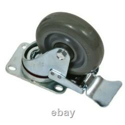 16 Heavy Duty Swivel 4 Rubber Caster Wheels with Brakes For Road Cases