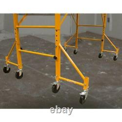 16 inch Outriggers for Scaffolding with Casters 4-Pack Heavy Duty Tubular Steel