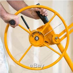 16ft Heavy Duty Drywall Panel Hoist Rolling Caster Jack Lifter Construction Tool