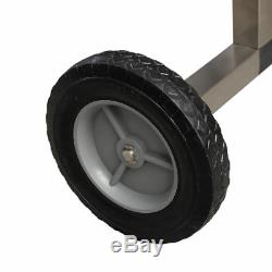 21' Heavy Duty Solar Swimming Pool Cover Reel Straps Caster Wheels Manual Roller