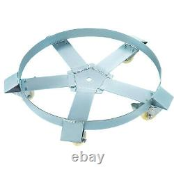 2PCS 55 Gallon Drum Dolly with 5 Swivel Casters Heavy Duty Steel