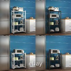 3-Tier 4-Tier Collapsible Heavy Duty Shelving Kitchen Garage Office With Casters