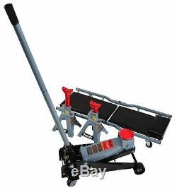 3 Ton Heavy Duty Jack Stands and Creeper Combo Garage Mechanic 4 Casters Mobile