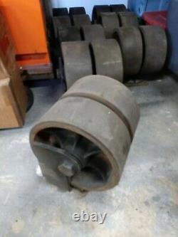 4 Cargo Container Wheel, 12Caster HEAVY DUTY MACHINERY CASTERS STEEL/RUBBER