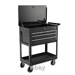 4-Drawer Roller Cabinet Tool Chest Heavy-duty Construction 2-lockable Casters