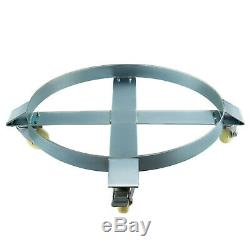 4 Drum Dolly 1000 lb 55 Gal w Swivel Casters Heavy Duty Steel Frame Non Tipping