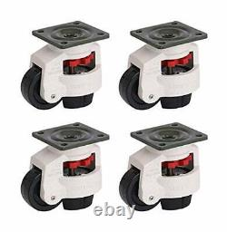 4 Pack Leveling Workbench Castor Retractable Heavy Duty Machine Caster