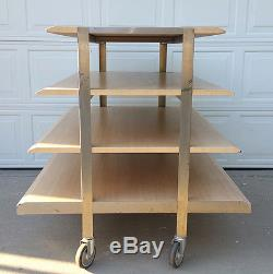 4 Tier Rolling Retail Waterfall Display Table Heavy Duty 45 H x 52 W withCasters