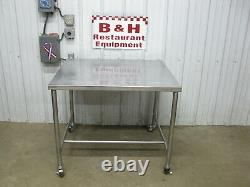 41 x 36 Stainless Steel Heavy Duty Kitchen Work Table with Casters
