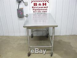 48 x 30 Stainless Heavy Duty Roll Under Work Table with Drawer, Casters 4