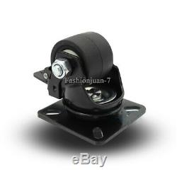 4PCS 2'' Heavy Duty Industrial Machine Casters Universal Wheel Roller with Brake