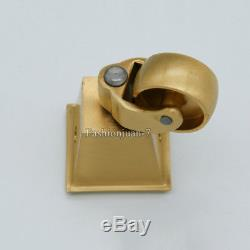 4PCS Heavy Duty Brass Universal Furniture Casters Table Chair Sofa Wheel Rollers