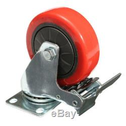 4Pcs Heavy Duty 100mm Rubber Rotate Castor Wheels For Trolley Furniture Caster