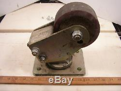 5 Casters Heavy Duty 6000Lb Capacity Per Caster Qty 4 Used Free Shipping