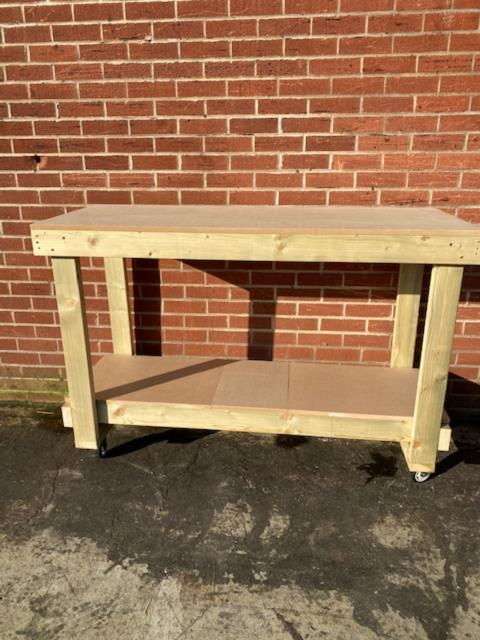 5ft Mdf Top Workbench With Castors -heavy Duty-free Delivery