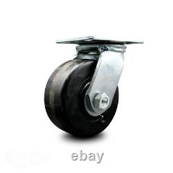 6 Heavy Duty Large TP Phenolic Caster-Swvl-1,600 lbs. Cpty/Caster-Series 55