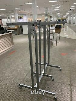6 Way Commercial Heavy Duty Clothes Rack On Casters