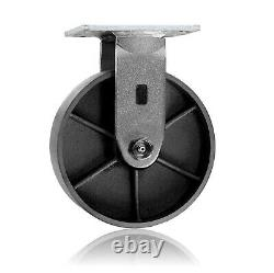 64Pack Heavy Duty Steel Caster Iron Wheel withTop Plate &Extra 2 Width 4800lb