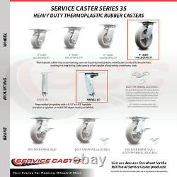 8 Heavy Duty Large Top Plate Thermo Rubber Caster-2 Swivel&2 Swivel withSide Lck