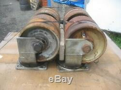 (8) Heavy Duty Steel Casters 4-Ridged And 4-Swivel The 4-RWM Are Unused