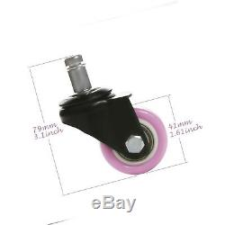 8T8 1.5 Replacement Office Chair Caster Wheels Heavy Duty Solid Rubber Safe