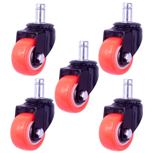 8t8 2 Replacement Office Chair Caster Wheels Heavy Duty Solid Rubber Safe For