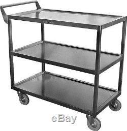 ACE Stainless Steel 34 x18 Heavy Duty Utility Bus Cart with 5 Casters C-4222