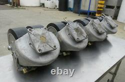 Aerol heavy duty casters rated to 9,600 LBS each