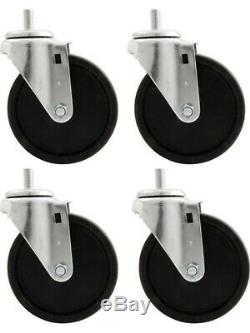 Allstar Performance Engine Cradle Casters Heavy Duty 1-2 in Studs 5 (ALL10166)