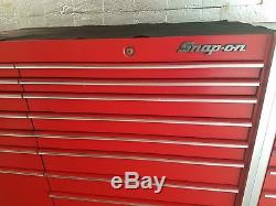 BEAUTIFUL Snap On Red Triple Bank Tool Box with Heavy Duty Casters