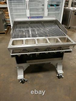 Bakers Pride CH6 Gas Heavy Duty Charbroiler With Casters