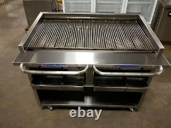 Bakers Pride F-48H Gas Lp 48 Heavy Duty Charbroiler With Casters
