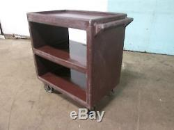 CAMBRO BC2301-2 HEAVY DUTY COMMERCIAL (NSF) POLY BUS/SERVICE CART with5 CASTERS