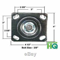 CASTERHQ- 6 x 2 Heavy Duty Set of 4 Toolbox Caster- 4 X 4-1/2 Mounting Plate