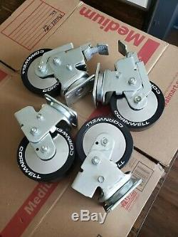 CORNWELL TOOL's, Caster Wheel Set of 4, Heavy duty NOS White lettered
