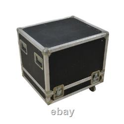 Calzone Case Co. Black Heavy Duty Travel Road Case 29.5 x 25x 24.5 withCasters
