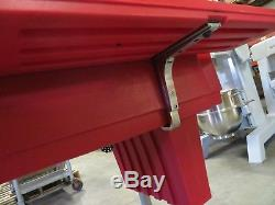 Cambro Hot Red 6' Versa Food / Salad Bar with Heavy Duty Casters Low Height