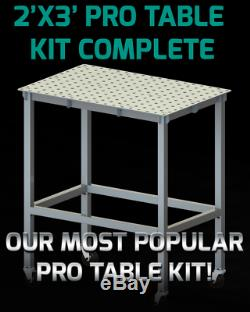Certiflat 24x36 PRO Top Heavy Duty Welding Table WT2436 WITH LEGS AND CASTERS
