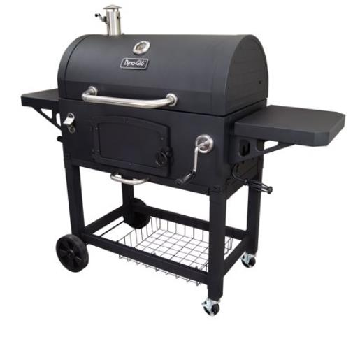 Charcoal Grill Heavy Duty X Large Outdoor Cooking Adjustable Flue Locking Caster