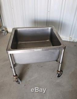 Commercial Stainless Steel Mobile Soak Sink / Portable Mop Sink on Casters NSF