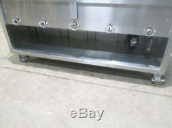 DUKE HEAVY DUTY COMMERCIAL (NSF) 5 PANS HOT FOOD BAR withSNEEZE GUARD ON CASTERS