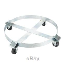 Drum Dolly 1000 lb with Swivel Casters Heavy Duty Steel Frame Non Tipping Silver