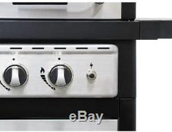 Dyna Glo Propane Gas Grill 2 Burner Stainless Steel Black Heavy Duty Caster New