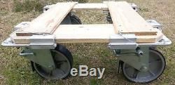 Eight (8) Heavy Duty SWIVEL CASTERS, $7904 MSRP, ISU containers & INTEX Pallets