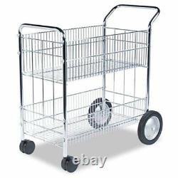 Fellowes Mail Cart 200 Lb Capacity 2 X 10, 2 X 4 Caster Steel 21.5 X