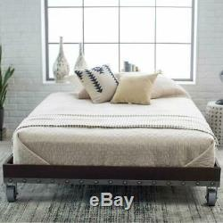 Full size Heavy Duty Industrial Platform Bed Frame on Casters