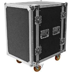 Heavy Duty 16 Space ATA Rack Case with 4 Inch Casters 16U Server Network Case