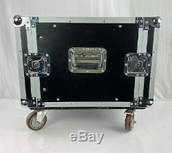 Heavy Duty 8 Space ATA Rack Case with Casters 8U Server Network Case